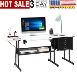 Fch Density Board Iron Foot Tube With Lifting Board With 3 Drawers Sewing Table