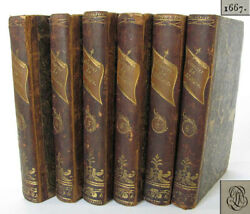 1667-1672 Antique 6 Volume French Book Set Works Of Moliere Leather Bound