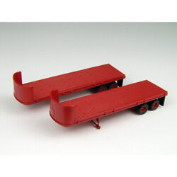 Classic Metal Works 31126 Ho Mini Metals 32and039 Flat-bed Trailer Set Pack Of 2
