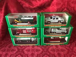 Set Of 6 Hess Mini Trucks 1998 99 00 01 02 And 03 Direct From Factory Case