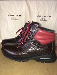 Brand New Cole Haan And Air Jordan Alligator 2007 Limited Edition 500 Boots Sz 13m