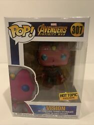 Funko Pop Marvel Avengers Infinity War Vision 307 Hot Topic Exclusive Vaulted