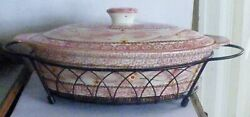 Temp-tations By Tara Old World Elongated Oval Bakeware + Lid Trivet And Carrier