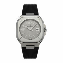 Bell And Ross Br 05 Grey Steel Mens Automatic Strap Watch Br05a-gr-st/srb