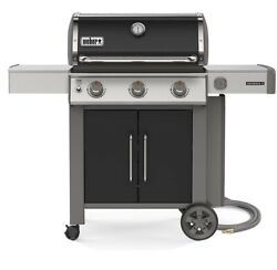 Weber Genesis Ii E-315 3-burner Natural Gas Grill In Black With Built-in