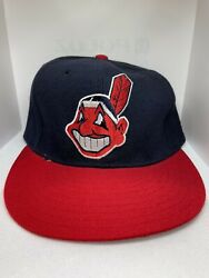 Vintage New Era 59fifty On Field Fitted 7 1/8 Cleveland Indians Cap Hat Unworn