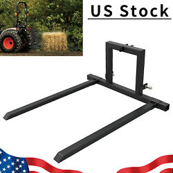 3 Point Hitch Pallet Fork Attachments For Category 1 Tractor Skid Steer Loader