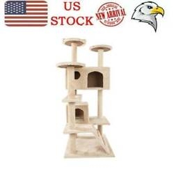 52 Study Cat Tree Tower Activity Center Large Playing House Condo For Rest