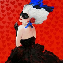 Queen Of Hearts Painting By Anastasia Balabina