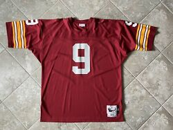 100 Authentic Sonny Jurgensen Mitchell And Ness 1974 Redskins Jersey Size 52 Mens
