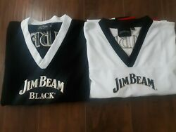 Jim Beam Black And White Whiskey Bottle Sewn Patches Football Jerseys Mens Xl