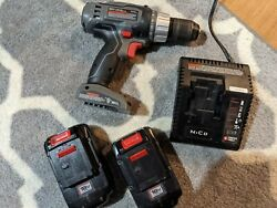 Porter Cable 18v Cordless 1/2 Inch Drill 2 Batteries And Charger Tested Works