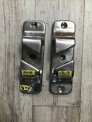 9 Andldquox 2 3/4andrdquo Base Pair Solid Stainless Chocks Large Boat 3/8andrdquo Screw Holes 5 Lbs
