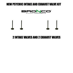 New Bronco Intake And Exhaust Valve Kit 4 Valves Yamaha 80 Badger Grizzly Raptor