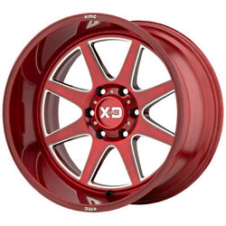 4-xd Series Xd844 Pike 22x12 8x170 -44mm Red/milled Wheels Rims 22 Inch