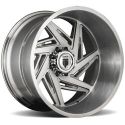 4-american Truxx At1906 Spiral 24x14 8x6.5 -76mm Brushed Wheels Rims 24 Inch