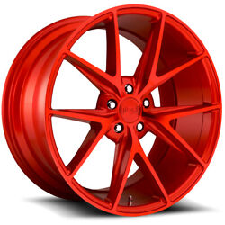 Staggered Niche M186 Misano 20x9,20x10 5x120 +35mm Candy Red Wheels Rims