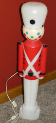 Vintage Christmas Carolina Products Light Up Blow Mold 30 Toy Soldier