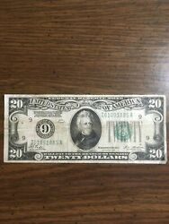 Federal Reserve Note Series 1928 Tate Mellon Bank 9 20 Gold Clause