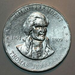 Thomas Jefferson Third President, Shell's Famous Facts And Faces -token 25.9mm