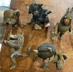 Mcfarland Toys Where The Wild Things Are 5 Figures Lot 2000 Maurice Sendak