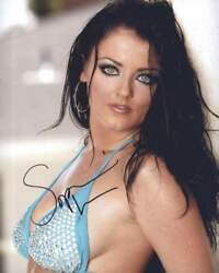 Sophie Dee Signed Model 8x10 Photo -proof- -certificate- A0034