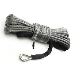 Winch Rope High Strength Synthetic With Sheath Gray Light Weight Portable