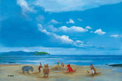 Pooh And Friends At The Seaside By Peter Ellenshaw Inspired By Winnie The Pooh