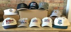 Lot Of 10 U.s. Open And Pga Major Championship Golf Caps Hats - Various Years