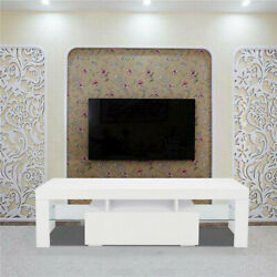 High Gloss Led Tv Cabinet Stand Particle Board Furniture Center Console Cabinet