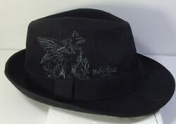 Hard Rock Cafe Boston HRC Griffin Fedora Hat Cap Black One Size New w tags