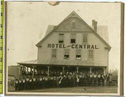 Vintage 1900and039s Mounted Photo / Secret Society Meet At Hotel Central 4 Witch Hunt