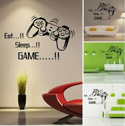 Eat Sleep Game Removable Wall Stickers Art Decal DIY Boys Bedroom Home Decor US