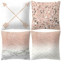 Pack of 4 Pillows Cover 18quot;x18quot; Pink Couch Pillows Cover Pillowcase Sofa Decor