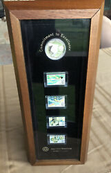 Us 1 Dollar 1983 S Silver Coin Proof Olympics Los Angeles Eagle T119 Stamp Set