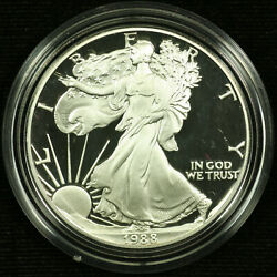 Proof American Silver Eagle Dollar. 1988 P. Ogp. Lot 003