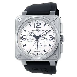 Bell And Ross Aviation Br01-94 Stainless Steel White Menand039s Watch Br0194-wt-st-rs