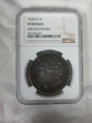 1878-cc Morgan Silver Dollar - Ngc Certified And Graded Vf Very Fine