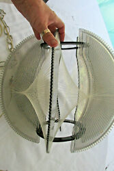 Collectible Vintage Hanging Light Fixture Fish String Mod Modern 1970's Lighting