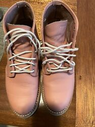 Discontinued Red Wing Pink Rose Boundary Round Toe Boots Us 6.5