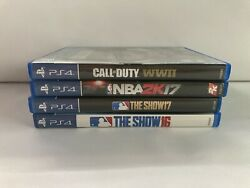 Ps4 Games Call Of Duty Wwii Nba 2k17 Mlb The Show 16 And 17