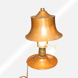 Antique Arts And Crafts Hammered Copper Table Lamp W2321 Stickley Era