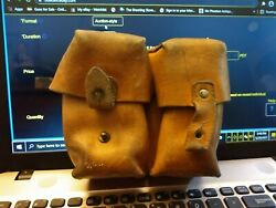 8mm Ammo Pouch Yugo For Mauser M-48 Rifle.tan Leather Dual Cell For M24 M4898k