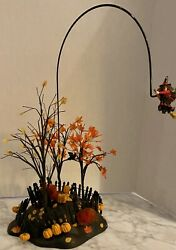 Dept 56 Snow Village Halloween Up Up And Away Witch Animated Figure Scene 52711