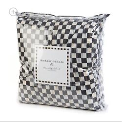 Retired Mackenzie Childs Courtly Check Fine Cotton Comforter Twin New M21-jn