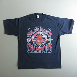 Vintage 90s Atlanta Braves T-shirt National League 1995 Made In Usa
