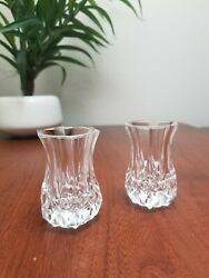 Glass Candle Holders Set of 2