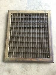 Vintage Heavy Register Grate. 15 1/2andrdquo X 13 1/2andrdquo. Used