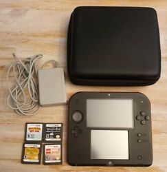 Nintendo 2ds Red Console With Games And Case Works Great