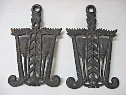Lot 2 Vintage Cast Iron Trivets Brooms Japan Need Cleaning Iron Art